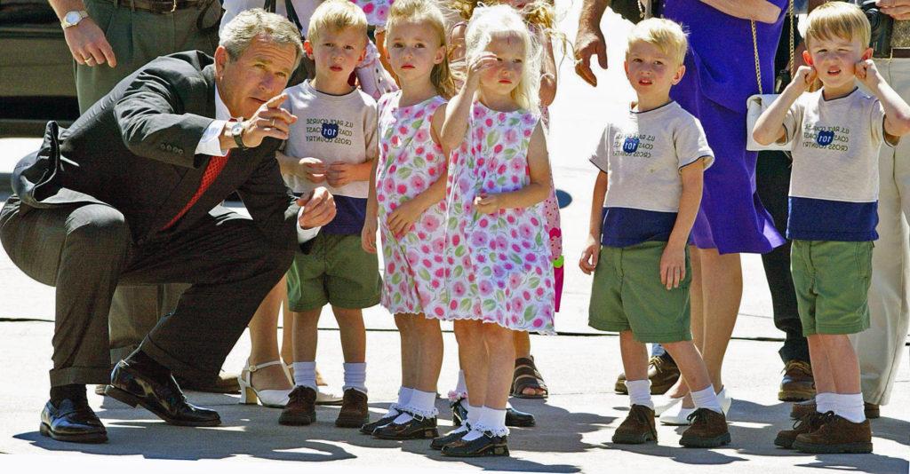 Джордж Буш лично познакомился с удивительной семьей
