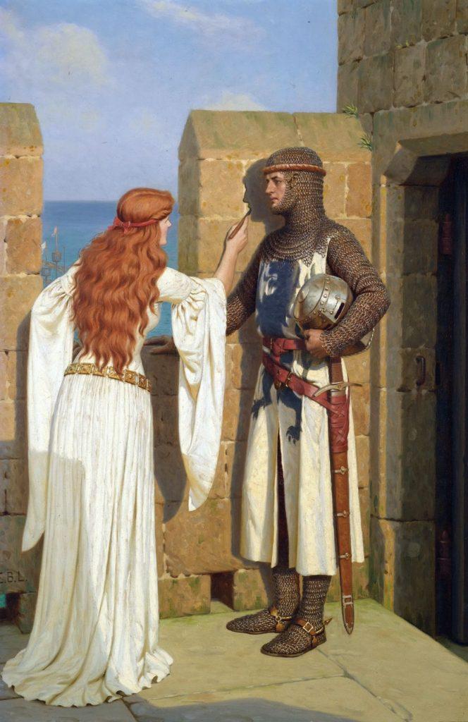 Средневековая женщина и рыцарь