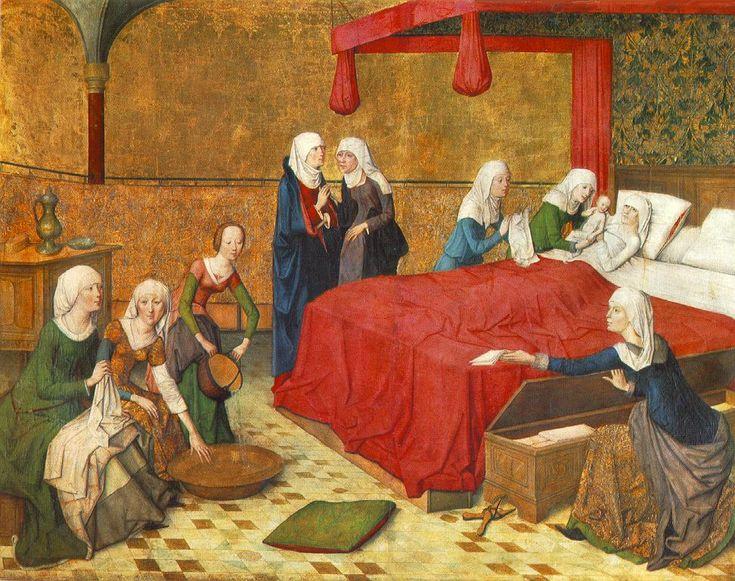 Средневековая женщина: роды